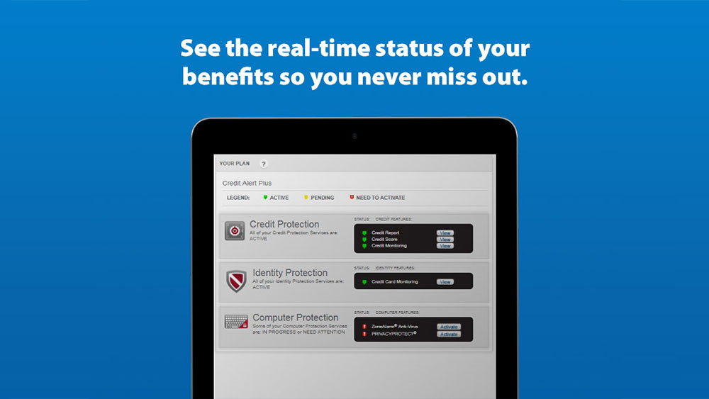 See the real-time status of your benefits so you never miss out.